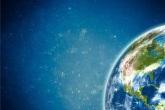 Земля с звездами Стоковые Изображения RF