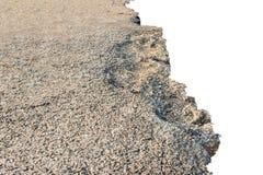 Земля сломанная на белой предпосылке стоковые фотографии rf