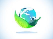 Земля в листьях Стоковое Изображение RF