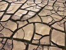 земля треснутая предпосылкой сухая Стоковая Фотография
