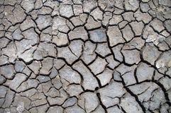 Земля треснутая текстурой Стоковое Фото