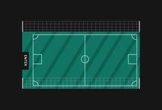 Земля футбола вектора Стоковые Изображения