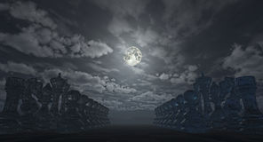 Земля шахмат (перевод 3D) Стоковые Фото