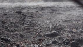 Земля дымя после огня сток-видео