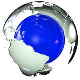 Земля Map Стоковое Изображение RF