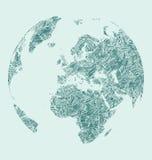 Земля Sketh Стоковые Изображения RF