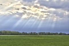 Земля Sunrays Стоковое Изображение