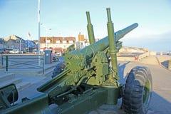 Зенитная пушка, Arromanches, Франция Стоковые Фотографии RF