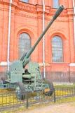 зенитная пушка KS-19 100mm Стоковое фото RF