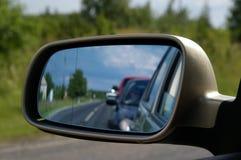 зеркало автомобиля Стоковое Изображение