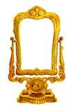 зеркало барочной рамки золотистое Стоковое Фото