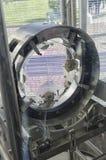 Зеркало конца интерферометра Virgo Стоковое фото RF