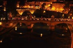 Зеркало ночи в Риме стоковое изображение