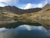 Зеркальное отображение в озере snowdon Стоковая Фотография RF
