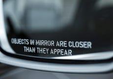 Зеркало автомобиля Стоковые Изображения RF