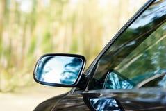 Зеркало заднего вида автомобиля Стоковое фото RF