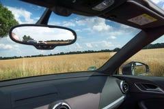 Зеркало заднего вида внутри автомобиля Стоковые Изображения RF