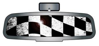 Зеркало заднего вида победителей иллюстрация штока