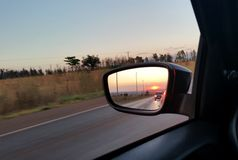 Зеркало заднего вида Стоковое фото RF