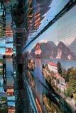 Зеркало на итальянском павильоне на экспо 2015 в милане Италии Стоковое Изображение