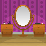 зеркало ретро иллюстрация вектора