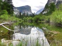 зеркало yosemite озера Стоковое фото RF