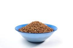 Зерна гречихи сверху изолированные на белой предпосылке Стоковое фото RF