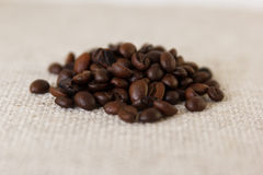 Зерна зажаренного в духовке кофе стоковая фотография