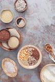 Зерна и муки клейковины свободные стоковые изображения