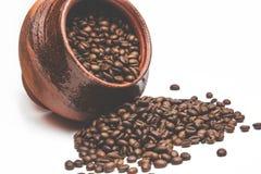 Зерна кофе в декоративном баке Стоковое Изображение RF