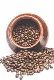 Зерна кофе в декоративном баке Стоковые Фото