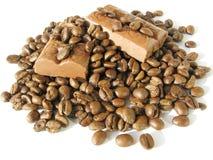 зерна кофе шоколада Стоковая Фотография
