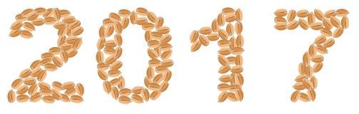 Зерна пшеницы 2017 бесплатная иллюстрация