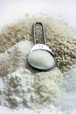 Зерна ячмень и соль Стоковые Изображения