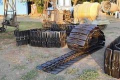Зернокомбайн следа новый стоковая фотография