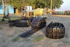 Зернокомбайн следа новый стоковое фото rf
