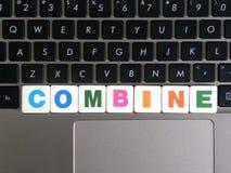 Зернокомбайн слова на предпосылке клавиатуры стоковое изображение