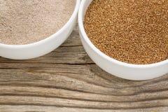 Зерно и мука Teff стоковое фото