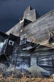 зерно лифта старое Стоковая Фотография