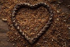 Зерно пшеницы на дерюге Стоковая Фотография RF