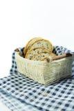 зерно хлеба все Отрежьте в части Стоковое Изображение RF