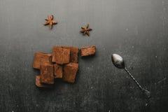 зефиры шоколада с специями стоковое изображение