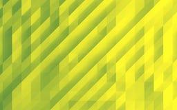 Зеленая абстрактная квадратная предпосылка, низкая поли иллюстрация стиля Стоковая Фотография RF