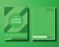 Зеленая абстрактная материальная крышка дизайна иллюстрация штока