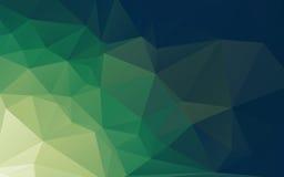 Зеленая абстрактная низкая поли предпосылка вектора Стоковая Фотография