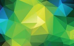 Зеленая абстрактная низкая поли предпосылка вектора Стоковое Изображение RF