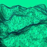 Зеленая абстрактная полигональная предпосылка Стоковые Изображения