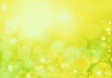 Зеленая абстрактная предпосылка с кругами света Стоковая Фотография RF