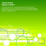 Зеленая абстрактная предпосылка с круговой картиной Стоковое Фото