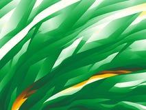 Зеленая абстрактная предпосылка фрактали при динамическая картина походя трава Стоковая Фотография RF